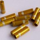 10PCS CNC ALLOY JAGWIRE 4MM END CAPS lined ferrules GOLD SHIFTER DERAILLEUR