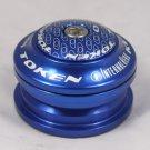 2012 TOKEN Internal Headset 28.6MM 1-1/8'  44MM NEW IN BOX BLUE