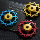 CNC JOCKEY WHEEL SUPER LIGHT PULLEY Rear Derailleur 1 pc BLUE RED GOLD 11T