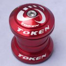 TOKEN Threadless Headset 28.6MM 1-1/8' RED MTB NEW IN BOX