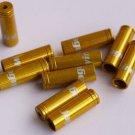 8 PCS CNC ALLOY JAGWIRE 4MM END CAPS lined ferrules SHIFTER DERAILLEUR GOLD