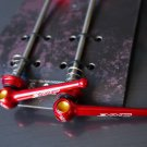 Titanium Quick Release Skewer SET TI AXLE 44g PAIR RED ROAD BIKE