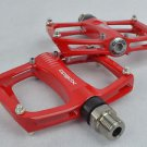XPEDO TI TITANIUM AXLE PEDALS 193g PAIR CITY BIKE ROAD FIXED GEAR RED