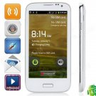 """S4 Android 4.0 GSM Bar Phone w/ 4.5"""" Capacitive Screen, Quad-Band and Wi-Fi - White"""