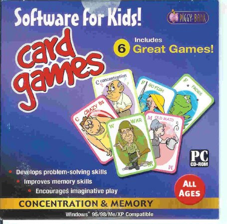 Classic Kids Card Games PC-CD All Ages Win XP