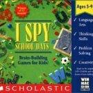 I Spy School Days Thinking Games PC-CD Ages 5-9 Win/ Mac