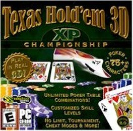 Texas Holdem 3D XP Poker Championship PC-CD Win XP