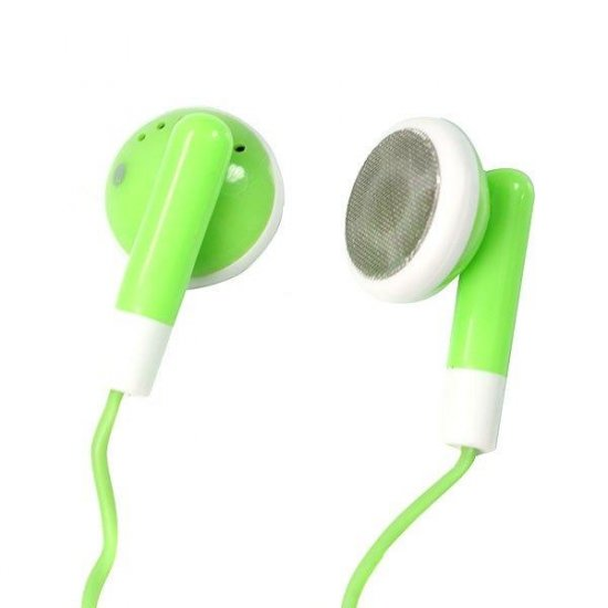 Stylish Green Stereo Earbuds (3.5mm Jack)