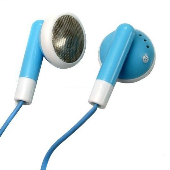 Stylish Blue Stereo Earbuds (3.5mm Jack)