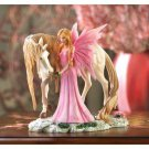 ~FREE SHIPPING~PINK FAIRY & HER FRIEND FIGURINE