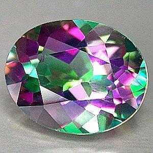 33 Carat Green Mystic Fire Topaz Oval cut gem 25x18mm