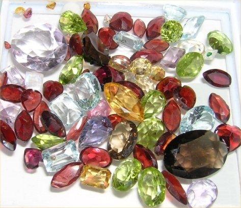 50 carat lot natural Mixed Gemstones Birthstones