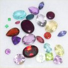 25 carats natural all Faceted gem stones