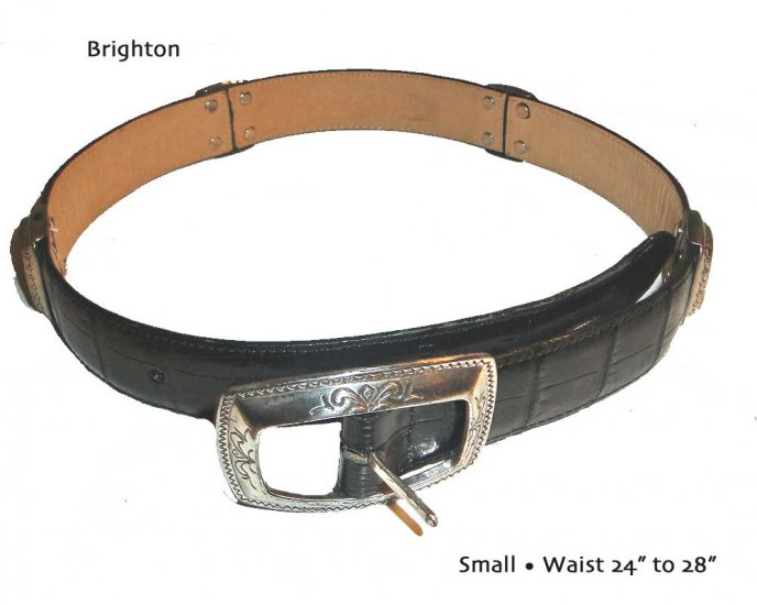 Brighton 2-Tone Faux Alligator Belt Size 24-28 New/Old
