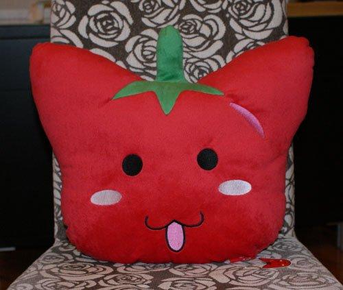 frankicatz exclusive - Cushion - half cat & half tomato
