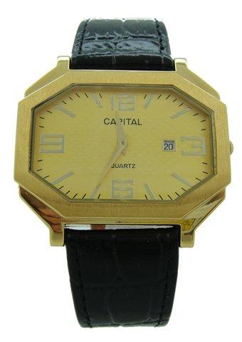 Capital brand leather strap men Watch WA717