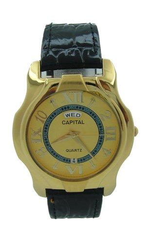 Capital brand leather strap men Watch WA720