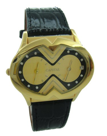 Capital brand leather strap men Watch WA721