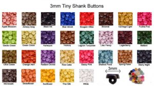 3mm Tiny Shank Doll Buttons - 144 pieces
