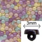 Pastel Mix 3mm Tiny Shank Doll Buttons - 144 pieces