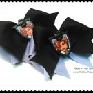 M2M Monster High Large Purple Black Double Layer Horse Show Hair Bows Tickles n' Toes Boutique