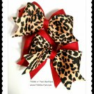 M2M Christmas Cheetah Girls Large Double Layer Horse Show Hair Bows Tickles n' Toes Boutique
