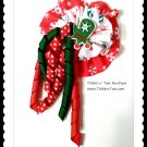 CANDY CANE CURLY MITTEN Girls Double Layer Specialty Korker Hair Bow Tickles n' Toes Boutique