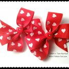 MY LITTLE LOVE Toddler Girls Red Pinwheel Hair Bows Clippies Tickles n' Toes Boutique