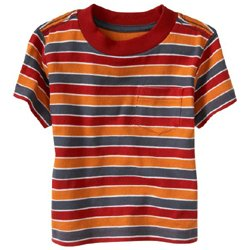 Old Navy's Pocket Tee - Sunrise Stripe