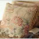 "18"" Pair! ANTIQUE FRENCH DECOR Wool Aubusson Pillow Chair Sofa Bedding Cushion"
