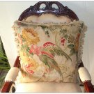 "WILDLIFE ◆ PARROT Aubusson Tapestry Pillow 20"" WOOL BIG Cushion Cover FREE SHIP!"