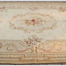 9X12 COUNTRY FRENCH PASTEL Aubusson Area Rug VINTAGE DECOR Handwoven Wool Carpet