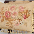 "22""X14"" SHABBY PINK CHIC Aubusson Cottage Pillow French Decorative Sofa Cushion"