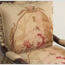 PAIR ANGEL Vintage French Aubusson Tapestry Throw Pillow WOOL Decorative Cushion