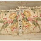 """A PAIR!  Parrot Aubusson Pillow 20""""X20"""" Wool Chair Sofa Bed Couch Bench Cushion"""