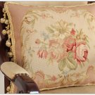 PINK QUEEN 18X14 Aubusson Pillow Shabby French Chic Rose Chair Bed Sofa Cushion