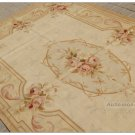 5X8 COUNTRY FRENCH PASTEL Aubusson Area Rug VINTAGE DECOR Handwoven Wool Carpet