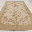 3x9 RUNNER Aubusson Rug / Tapestry Wall Hanging VINTAGE FRENCH DECOR Wool Woven