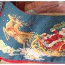 "16""X12"" WOOL HANDMADE Chic Needlepoint CHRISTMAS SANTA Pillow Decorative Cushion"