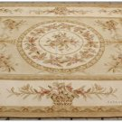 Shabby French Chic 6X8 Aubusson Rug Country Home Decor Carpet PASTEL GOLD CREAM