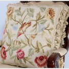 A PAIR Shabby French Chic Bird Aubusson Pillow Home French Decor Cottage Cushion