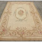 5X8 Aubusson Area Rug ANTIQUE FRENCH PASTEL Wool Handwoven Carpet FREE SHIP!