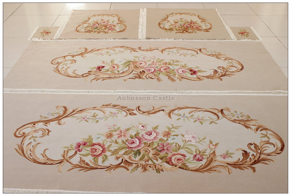 SILK WOOL French Aubusson Tapestry Covers - 20PCS to Upholster 1 SOFA 4 CHAIRS!