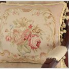 SUBTLE PINK QUEEN 18X14 Aubusson Pillow Shabby French Chic Rose Chair Bed Sofa Cushion