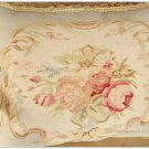 18X14 Chic Aubusson Pillow LIGHT BLUE IVORY PINK Sofa Chair Decorative Cushion