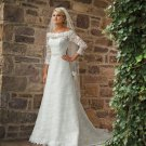 Gorgeous Long Sleeve A-line Lace Wedding Dress MC0080