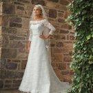 Gorgeous Long Sleeve A-line Lace Wedding Dress MC0080