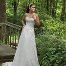 Stunning Strapless Lace Wedding Dress MC0112