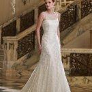 New Style Sleeveless A-line Lace Wedding Dress MC0129