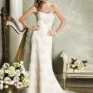 Stunning Strapless A-line Lace Wedding Dress WN0177